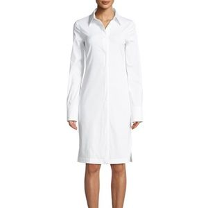 Helmut Lang White Shirtdress Button Back NWT Small
